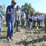 Foto Ministru MAP Estanislau  Eleixo da Silva, Lansa fore keli Hektares 4 iha Oebaba-Covalima. Fotografer Roger.